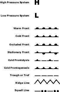 Weather Map Symbols, Abbreviations, and Features - ©2004 L ...